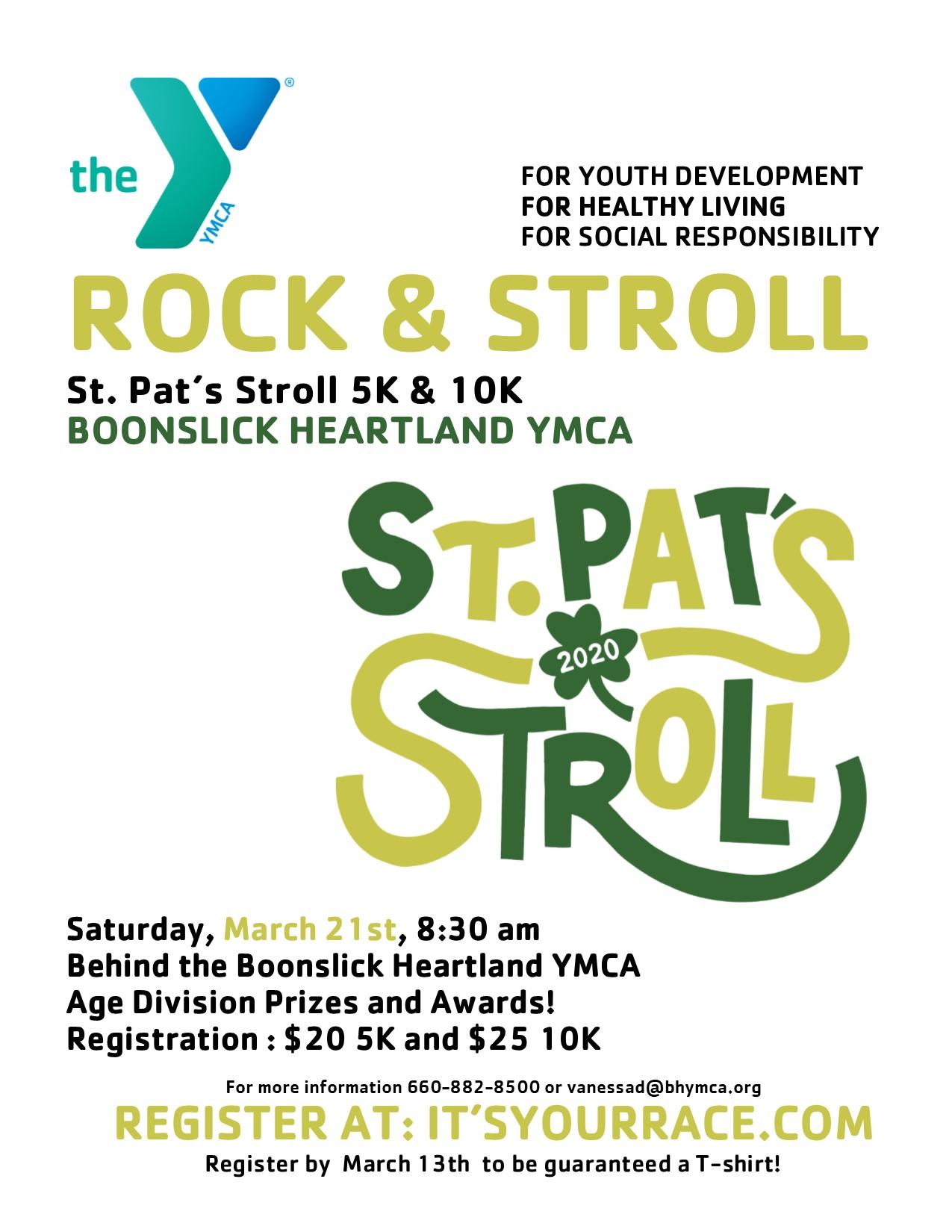 St Pat's Stroll Flyer 2020